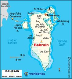 Bahrain is the site of the ancient Dilmun civilization. It has been famed since antiquity for its pearl fisheries, which were considered the best in the world into the 19th century. Bahrain was one of the earliest areas to convert to Islam (AD 628). (V)