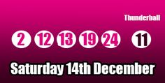 Here are the #thunderball results for Saturday 14th December 2013, you can read more about this #lottery draw and see the prize breakdown here: http://thunderballresults.org/thunderball-results-14th-december/ #lotto