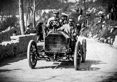 "October 3, 1903:  H.W. Fletcher triumphs in a Mercedes 60 hp in the class for ""unrestricted race cars"" for the flying mile at the Southport Speed Trials with an average speed of 85.3 km/h (53.3 mph).  Also, just the day before, history was written in Southport when British ""sporting motoriste"" Dorothy Levitt won her respective class (cars costing between £400 and £550) in a 12 or 16 hp Gladiator, marking the first time a woman competed in a car racing."