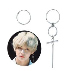 BTS BangtanBoys V Goutte Croix Boucles d/'oreille kpop style HOT objet made in KOREA 1 pièce