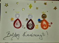 three kings from 2017 Xmas postcard quilling