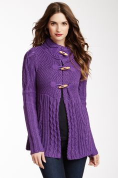Toggle Cable Knit Sweater