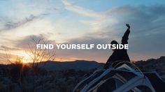 """Hip Camp  An online booking aggregator of """"cool"""" camping spots. All over the U.S. Not sure if it is international, but that would be awesome.  FIND YOURSELF OUTSIDE"""
