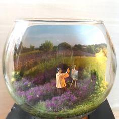 "@storybubl on Instagram: ""The painter"". #storybubl #lavender #miniature #lavande #miniworld #diorama"