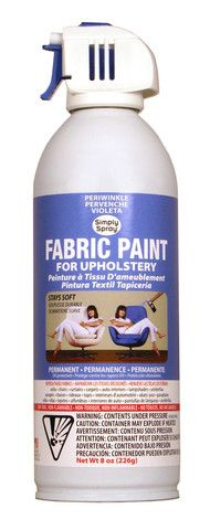 Periwinkle Upholstery Fabric Paint | Spray It New