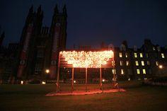 The burning of Robert Montgomery's Edinburgh Fire poem at the Edinburgh Art Festival.   http://www.edinburghartfestival.com/commissions/robert_montgomery