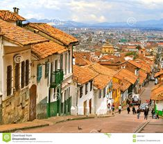 Colonial Street , Bogota, Colombia Editorial Photography - Image of historic, colonial: 23261867 Panama, Art Village, Mediterranean Architecture, Colombia Travel, South America Travel, Image Photography, Editorial Photography, Adventure Travel, Places To Go