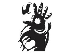 Amazon.com: Iron Man - Silhouette - 2 - Vinyl Decal: Everything Else