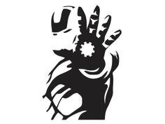 Amazon.com: Iron Man - Silhouette - 2 - Vinyl Decal: Everything Else