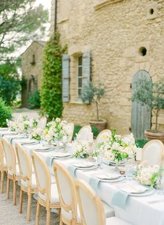 Provence Garden Wedding Inspiration at Château de Sannes Provence Garden Wedding Inspiration at Château de Sannes Wedding Reception Centerpieces, Wedding Table Settings, Wedding Reception Decorations, Wedding Receptions, Floral Centerpieces, Wedding Ceremony, Wedding Tables, Reception Table, Flower Arrangements