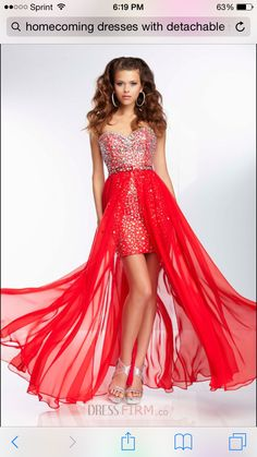 homecoming dresses with detachable skirts