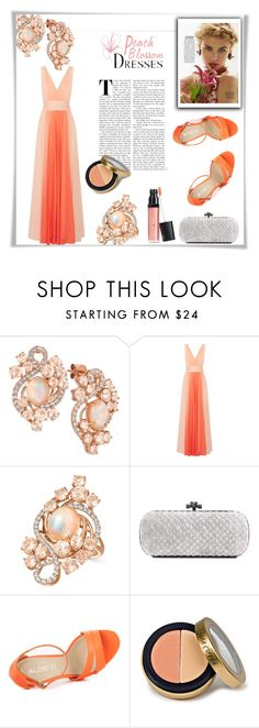 """The Hue - Peach Echo"" by riborn ❤ liked on Polyvore featuring LE VIAN, Halston Heritage, Bottega Veneta, Nature Girl, ALDO, Jane Iredale and Laura Geller"
