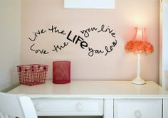 """Live the Life You Love.. Bob Marley Infinity Quote Vinyl Wall Decal Sticker Art (Black, 8"""" X 23"""")"""