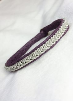 (in Champagne) No. 1074: Sami Bracelet of pewter thread and by jessofsweden