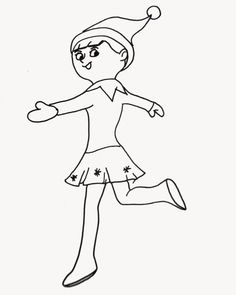 Christmas Coloring Pages | Pinterest | Elves, Shelves and Shelf ideas