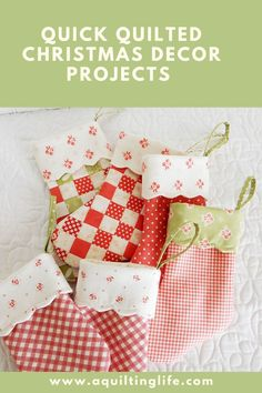 Quilted Christmas Décor Projects | Video + Links | A Quilting Life
