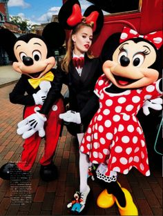 These models show their Disney Side in Vogue Japan, with a photo shoot at Disneyland Paris. Guest models include the Fab Vogue Editorial, Editorial Fashion, Minnie Mouse, Georgia May Jagger, Anna Dello Russo, Fashion Tape, Vogue Japan, House Mouse, Disneyland Paris