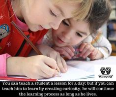 You can teach a student a lesson for a day; but if you can teach him to learn by creating curiosity, he will continue the learning process as long as he lives. www.miniowls.com #kids #motherhood #family #love #baby #parents #children #momlife #mom #parenthood #fatherhood #mommy #toddler #babies #dadlife #parentlife #dad #mother #moms #babygirl #blogger #fun #daddy #life #happiness #happy #mum #parenting #parentingbooks