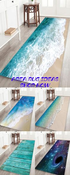 Decor the house while you have time, area rug of beach allows you to have a vacation at home, beach print bathrug, blue sea small carpet for DIY craft, shop now and get fast shipping Winter Home Decor, Winter House, Fall Decor, Wood Floor Pattern, Toronto, Carpet Cover, Beach Print, Cheap Carpet, Bath Rugs