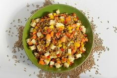 Rye Berry Salad with Mustard and Caraway Dressing A healthy vegetarian recipe that can be a dinner on its own