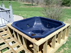 Ideas for building a new deck for the jaccuzzi