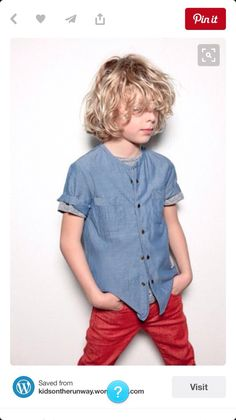 Love boys with long curly hair would work fab with this shoot