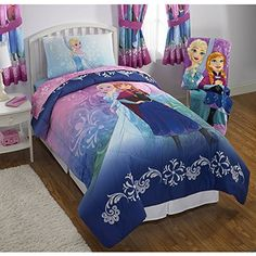 NEW Disney Frozen Twin Size Nordic Frost Bedding Set Made of 100 Polyester with Reversible Comforter Flat Sheet Fitted Sheet and Pillowcase *** Learn more by visiting the image link.