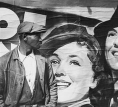 "Art I Love: Walker Evans ""Untitled (Man and Movie Poster, New Orleans, Louisiana or Vicksburg, Mississippi)"" 1936 
