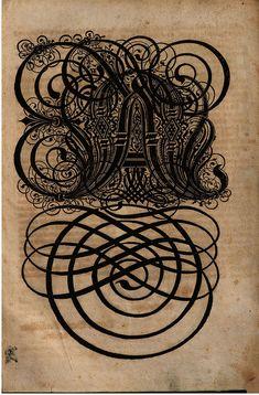 Paulus Franck - 'Schatzkammer Allerhand Versalien Lateinisch vnnd Teutsch', 1601 alphabet o