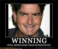 Still more sane than Scientology.