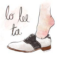 saddle shoes #illustration