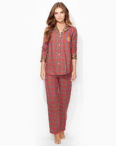 Ralph Lauren offers luxury and designer men's and women's clothing, kids' clothing, and baby clothes. Flannel Pajamas, Cotton Pyjamas, Plaid Flannel, Petite Sleepwear, Christmas Pajamas, Pajamas Women, Pajama Set, Peplum Dress, Clothes For Women