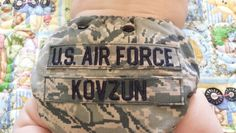 Made from military blouse and name tags. $15 plus shipping will get you your very own cloth diaper from not old lady sewing. I can custom order names and fabric to match your loved ones service. https://www.facebook.com/groups/111993582485752/