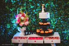 Mesa de bolo mini wedding