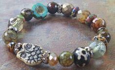 The Hoot Stretch Bracelet bohemian bracelet by JewelitCouture