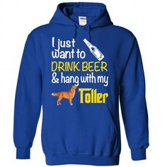 Drink Beer & Hang With My Toller! - #hooded sweatshirts #unique t shirts. MORE INFO => https://www.sunfrog.com/Funny/Drink-Beer--RoyalBlue-56008643-Hoodie.html?id=60505