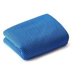 """MJ Fashion Cooling Towel for Instant Relief - 40""""12"""" - for Sports, Workout, Fitness, Gym, Yoga, Pilates, Travel, Camping & More (Blue)"""