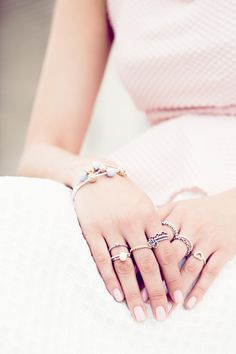 #PANDORAloves this adorable ring styling by blogger @chrisellelim - I love pandora rings
