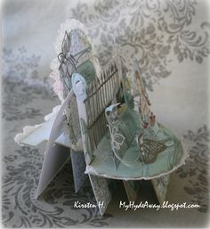 My Craft and Garden Tales: A butterfly shelf card - tutorial with template in Norwegian, but lots of pics and measurements