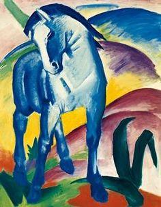 Franz Marc - Blaues Pferd I - jetzt bestellen auf kunst-fuer-alle.de