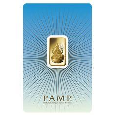 5 gram PAMP Suisse Gold Bar - Lakshmi (in Assay) .9999 Fine