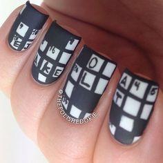 Crossword Puzzle Anyone? by The Polished Okie #nail #nails #nailart