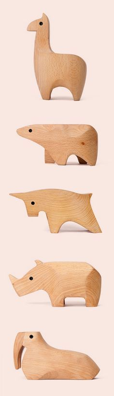 Simple original modern wooden animal desktop ornaments handmade - exquisite handgemachte rattan mobel