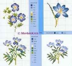 Cадовые цветы, вышитые крестом. Обсуждение на LiveInternet - Российский Сервис Онлайн-Дневников