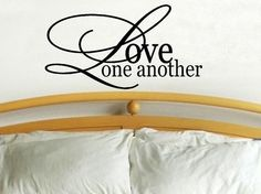 Love one another wall decal WD quote por WallDecalsAndQuotes