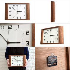 【楽天市場】■La Luz Inc. (ラ・ルース)■Retro Clock レトロクロック(壁掛け時計 ウォールナット 木製 ウッド シンプル 壁かけ ラルース 静か 寝室 ウォールクロック リビング時計 日本製 レトロ時計 スイープムーブメント):Rocca-clann