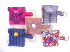 Key Chain/ key ring/ PK 5/ Colourful purse/ fabric purse/