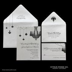 Wedding Invitation  Chandelier Invite available by CitrusPressCo, $3.95