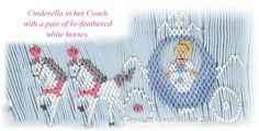 Cinderella's carriage in a smocking plate!