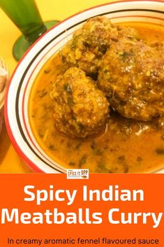 Healthy and aromatic this Indian meatballs curry uses simple ingredients and is so easy to make ready in 40 minutes. The curry sauce base is flavoured with fennel powder and cumin powder making this dish a delightful treat to your palate. #indiancurry #easyindianfoodrecipes #indianmeatballscurry #spicymeatballs